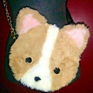 Luv Betsey Johnson Furry Animal Bear or Dog Bag